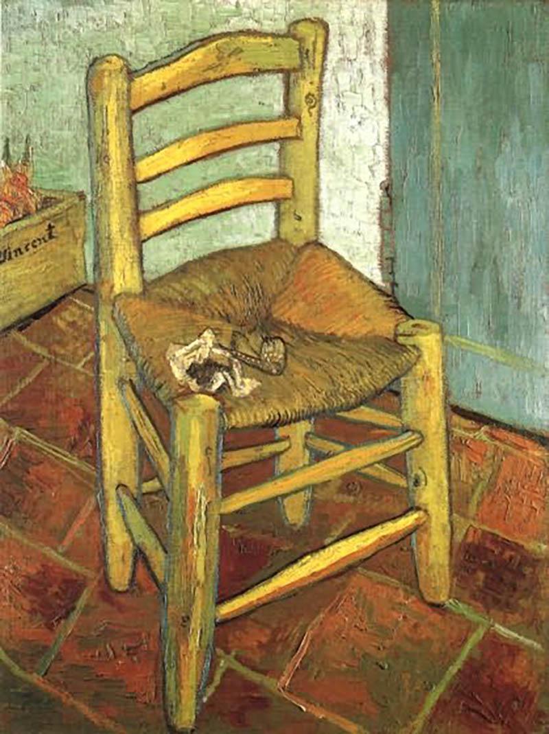 van gogh la chaise et la pipe chefs d uvres coloriages difficiles pour adultes. Black Bedroom Furniture Sets. Home Design Ideas