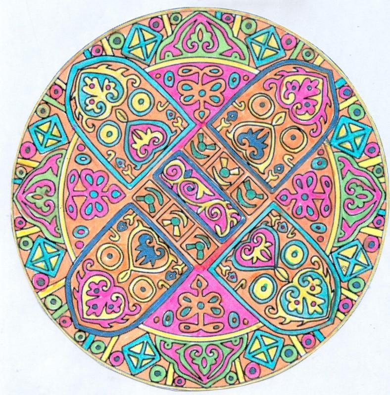 Mandala réalisé par Domandalas, artiste amateur et fervente utilisatrice du site.