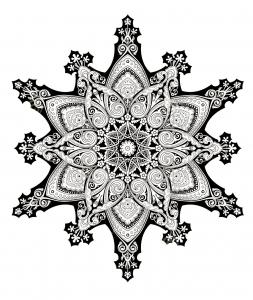 coloriage-adulte-oriental-mandala-2 free to print