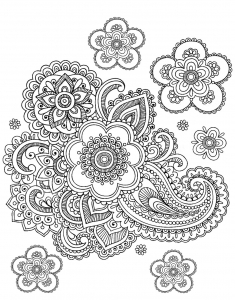 coloriage-adulte-paisley-difficile free to print