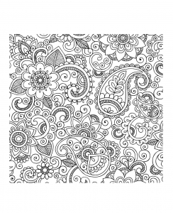 coloriage-adulte-paisley-iran free to print