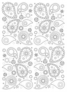 coloriage-detaille-motifs-paisley free to print