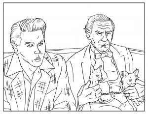 Coloriage-pour-adulte-Ed-Wood free to print