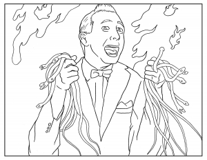 Coloriage-pour-adulte-Pee-Wee free to print
