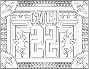 coloriage-adulte-Catch-22 free to print