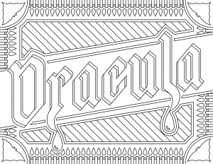 coloriage-adulte-Dracula free to print