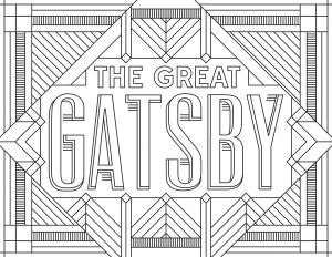 coloriage-adulte-The-Great-Gatsby free to print