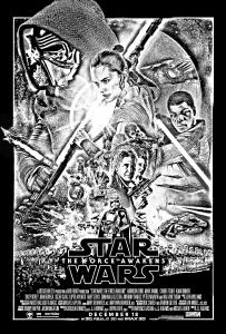 coloriage-adulte-affiche-star-wars-reveil-de-la-force free to print