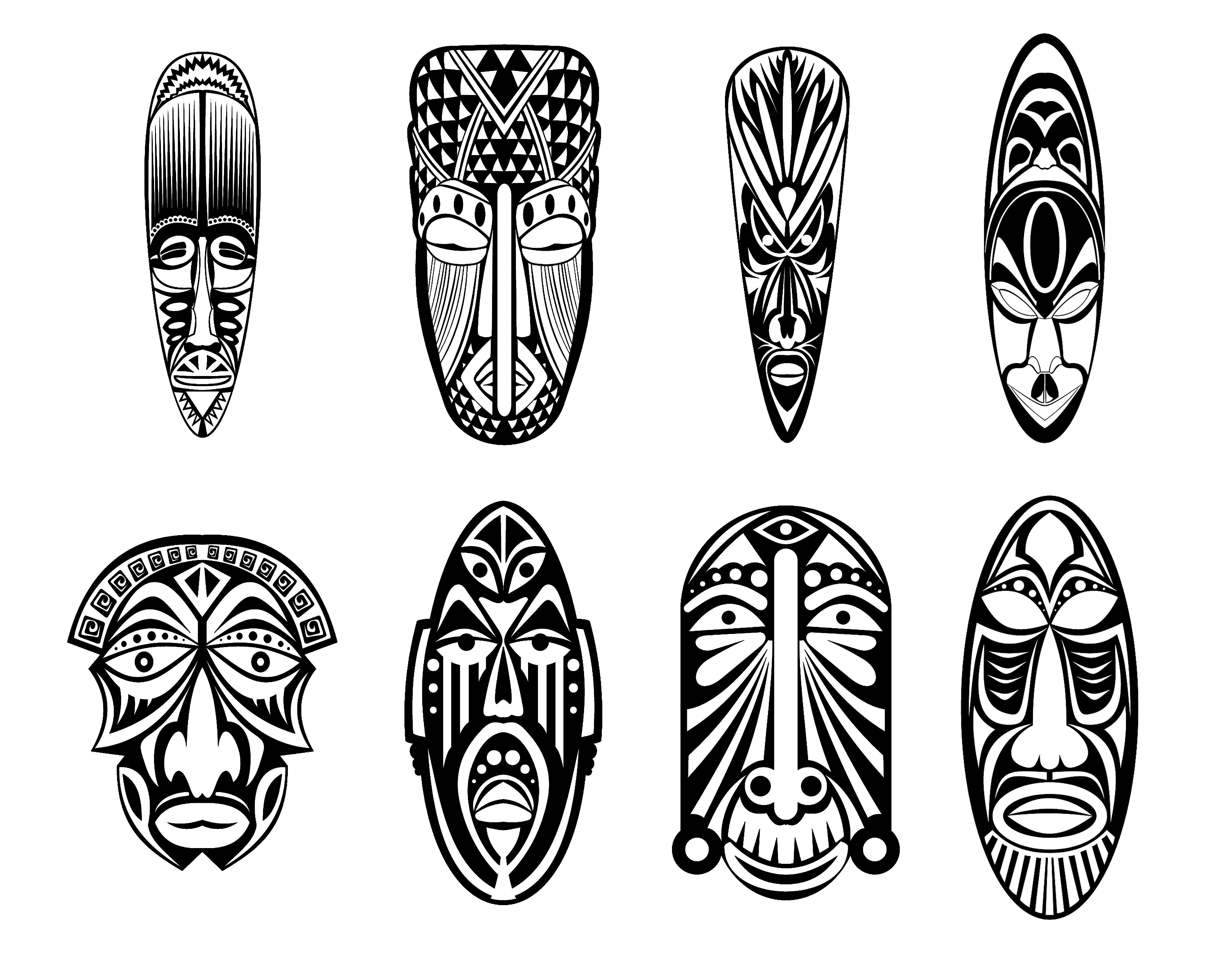 12 masques africainsA partir de la galerie : Afrique