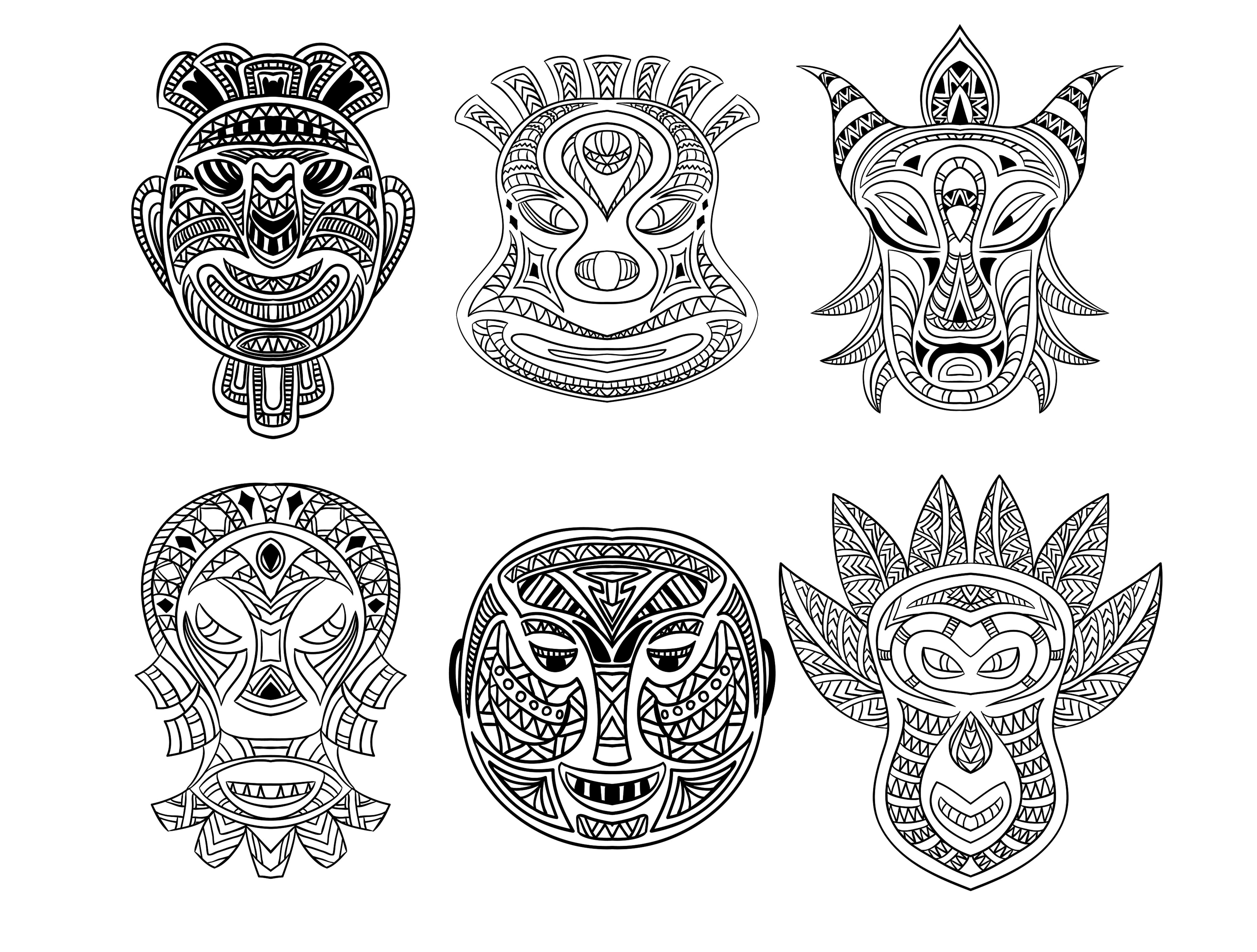 6 masques africainsA partir de la galerie : Afrique