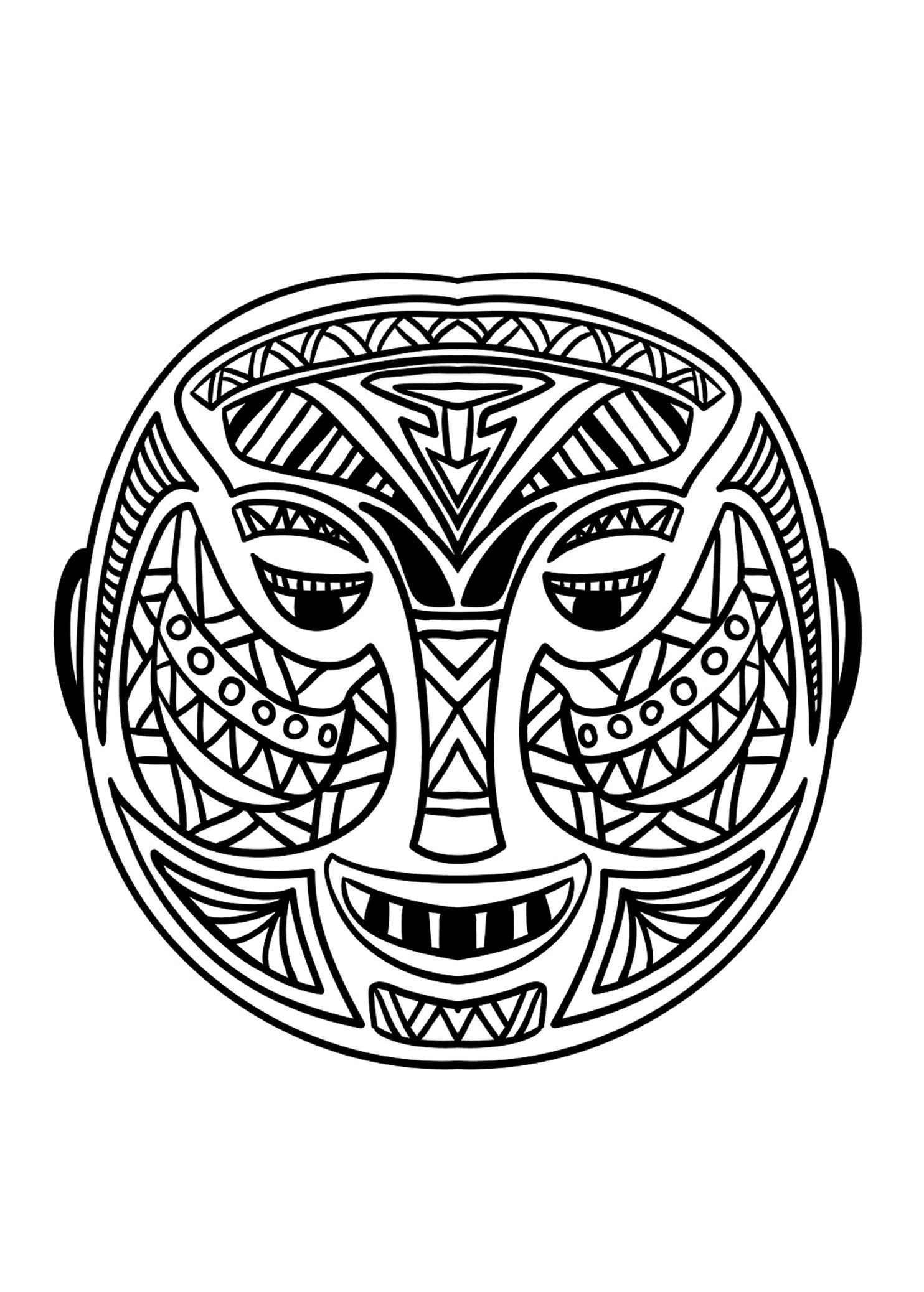 Masque africain 5A partir de la galerie : Afrique