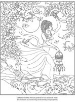 coloriage-adulte-deesse-africaine-amour-eau-fraiche free to print