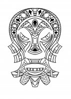 coloriage-adulte-masque-africain-4 free to print