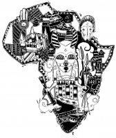 coloriage-afrique-carte-symboles free to print