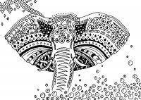 coloriage-afrique-elefants free to print