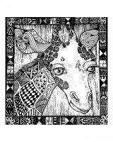 coloriage-afrique-girafe free to print
