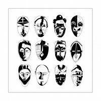 coloriage-afrique-masques free to print