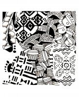 coloriage-afrique-motifs free to print