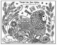 coloriage-afrique-tomnbo-lion free to print