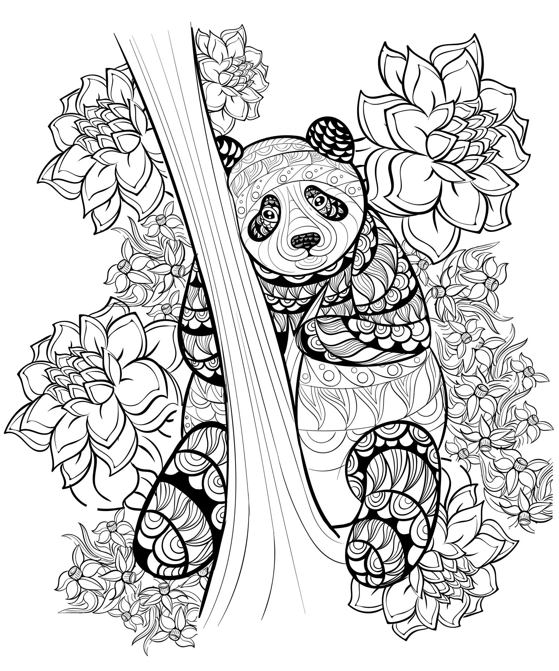 Un joli panda entouré de fleursA partir de la galerie : Calendrier De Lavent 2016