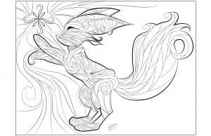 Coloriages-adultes-Doodle-Fennec-par-Juline free to print