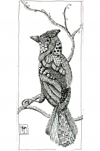 coloriage-adulte-animaux-bel-oiseau free to print