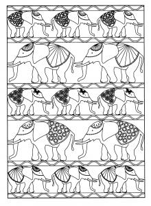 coloriage-adulte-animaux-elephants free to print