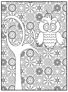 coloriage-adulte-chouette free to print