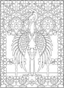 coloriage-adulte-grand-heron-majestueux free to print