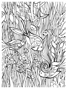 coloriage-adulte-poisson-details free to print