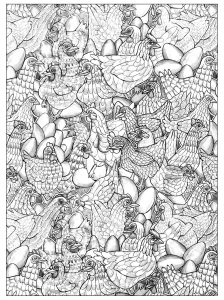 coloriage-adultes-poulet-3 free to print