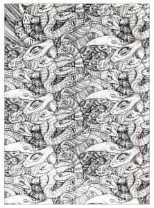 coloriage-adultes-serpents-1 free to print