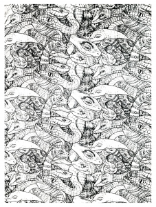 coloriage-adultes-serpents-enchevetres-2 free to print