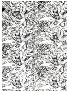 coloriage-adultes-serpents-enchevetres free to print