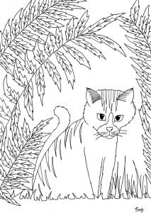 coloriage-petit-chat-par-miwah free to print