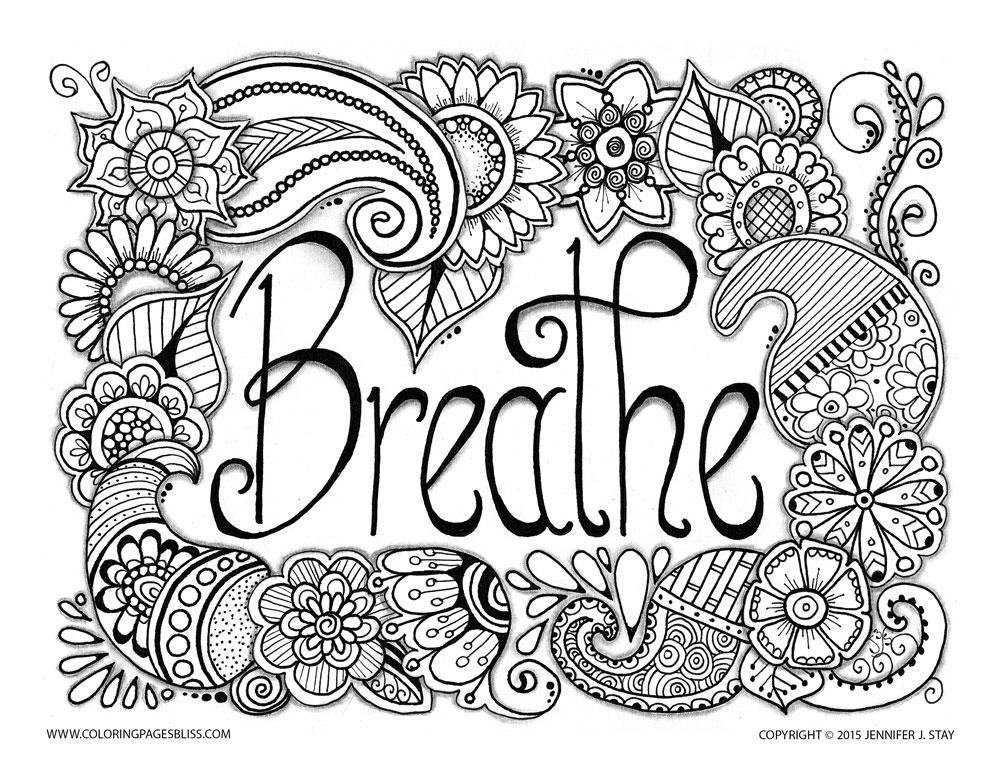 Pour les curieux, voici un coloriages très relaxant par JenniferA partir de la galerie : Anti StressArtiste : Jennifer Stay