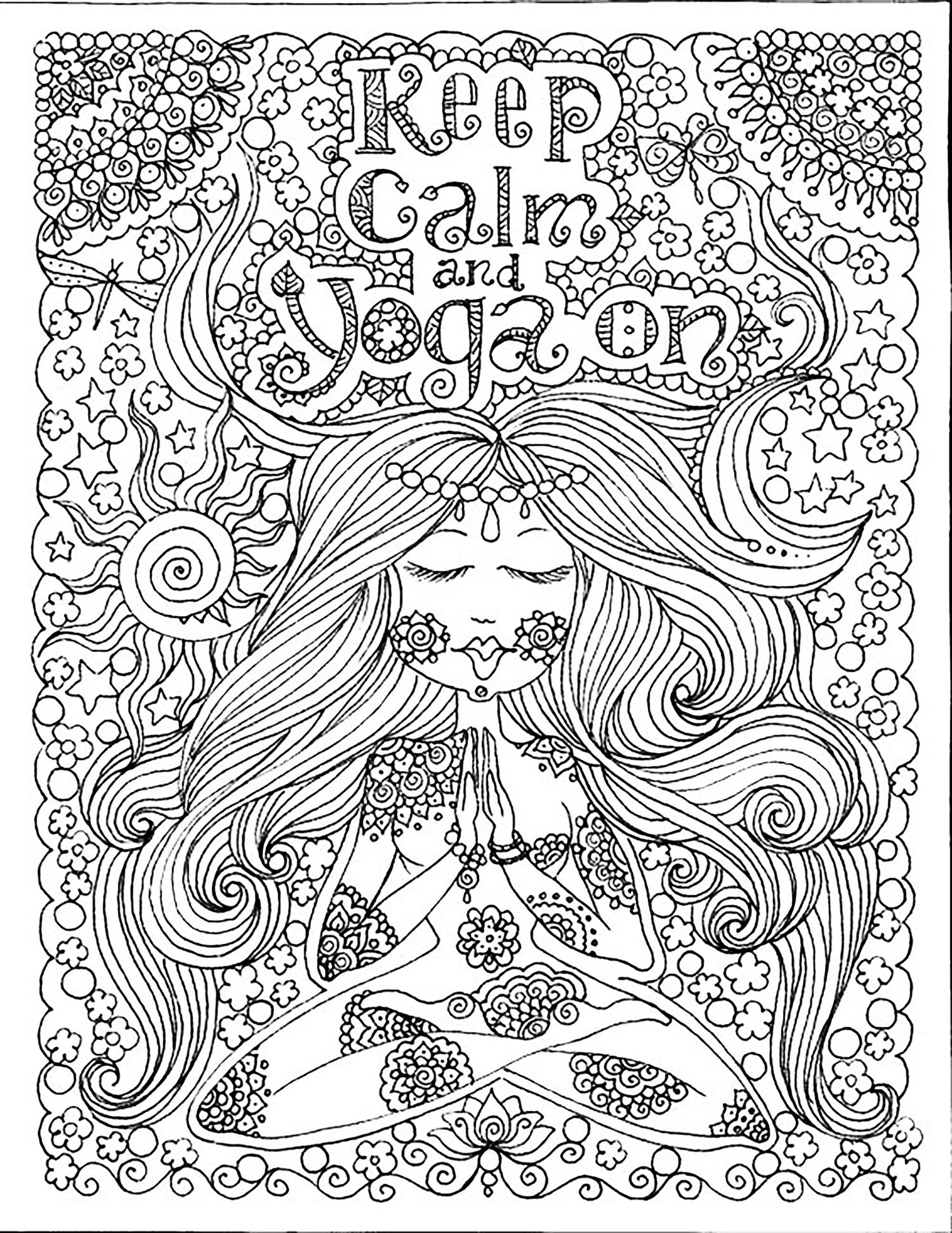 'Keep calm and do Yoga'A partir de la galerie : Anti StressArtiste : Deborah Muller