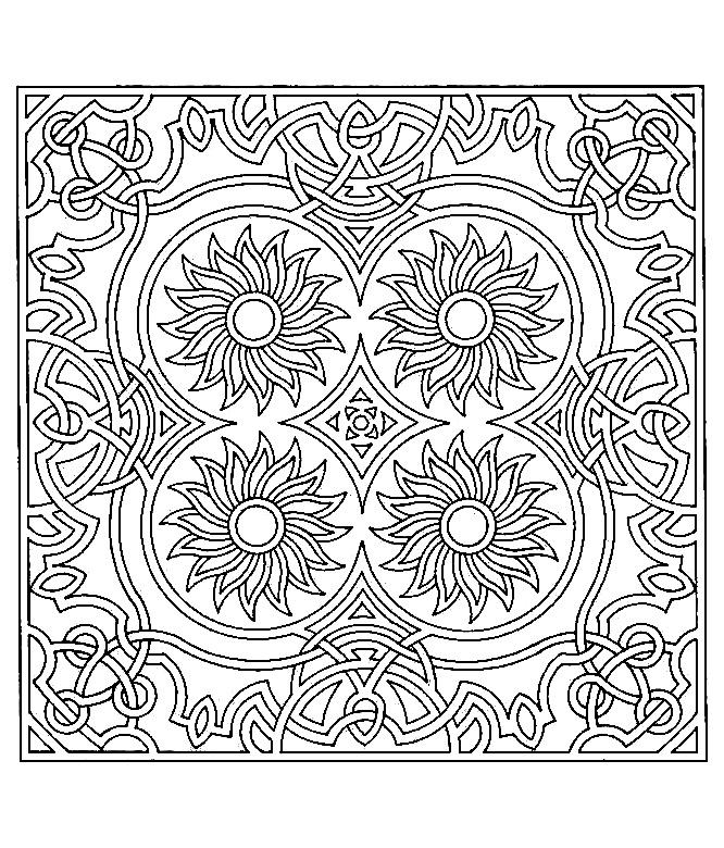 Anti stress art th rapie coloriages difficiles pour - Coloriage symetrie ...