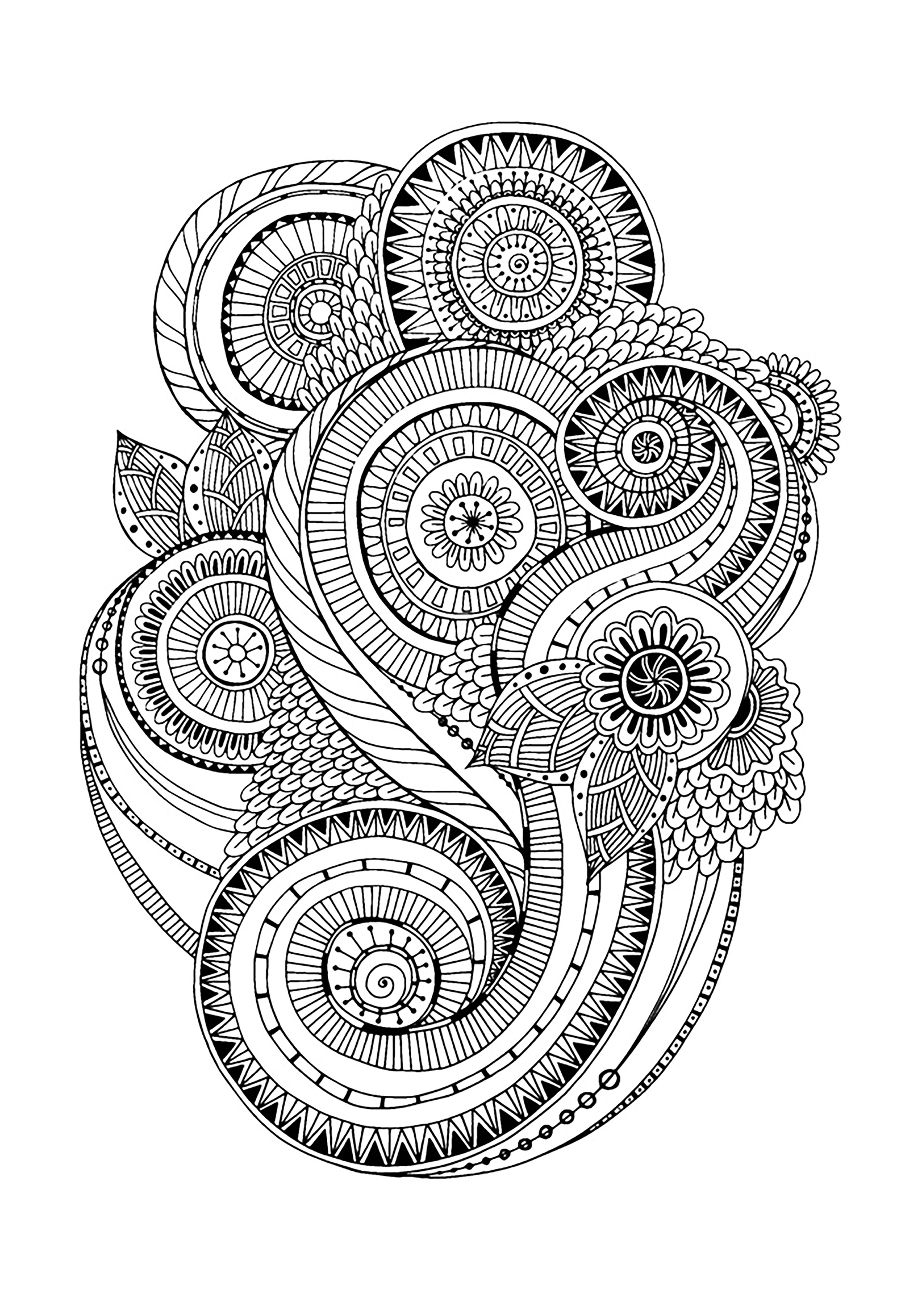 Holiday Coloring Pages free printable jungle coloring pages Accueil u00bb Relaxation u00bb Anti-stress u0026 Art-thu00e9rapie u00bb coloriage zen ...