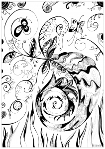 coloriage-adulte-Volutes free to print