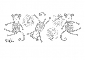 coloriage-adulte-annee-du-singe-6 free to print