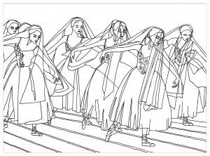 coloriage-adulte-ballet-giselle-par-marion-c free to print