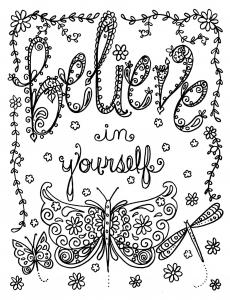 coloriage-adulte-believe-in-yourself-par-deborah-muller free to print