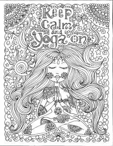 coloriage-adulte-keep-calm-and-do-yoga-par-deborah-muller free to print