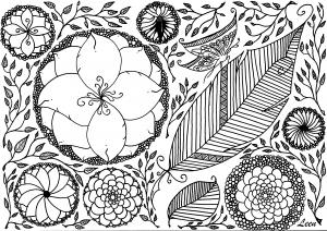 coloriage-adulte-leen-margot-le-printemps free to print
