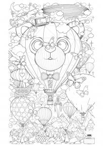 coloriage-adulte-montgolfiere-zen-anti-stress-a-imprimer free to print