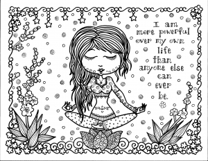 coloriage-adulte-pensee-positive free to print
