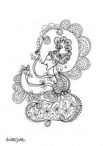 coloriage-adulte-poupee-javanaise-4 free to print