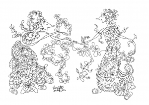 coloriage-adulte-poupee-javanaise-5 free to print