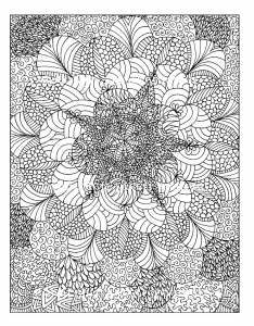 coloriage-adulte-rosaces free to print